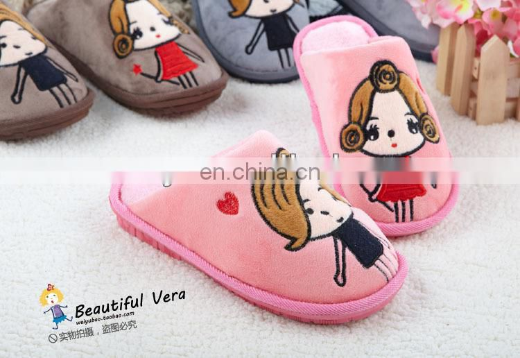 Wholesale Cute Cheap Cotton Slipper for Boys and Girls
