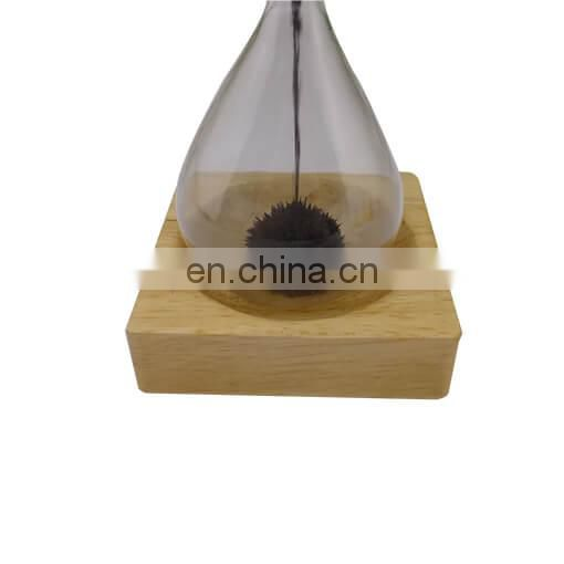 OEM Creative Decorative Wooden Magnetic Glass Hourglass