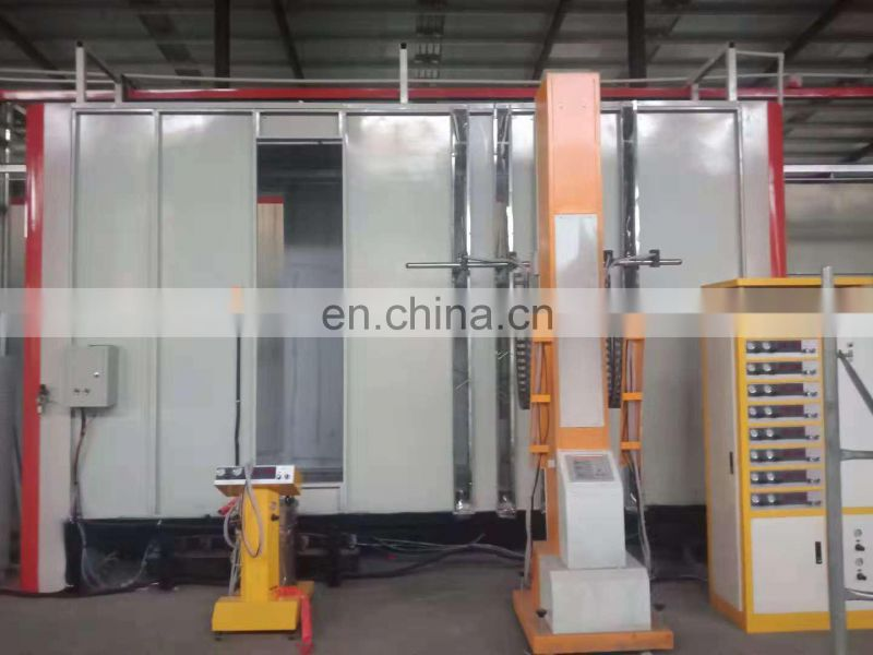 Automatic powder coating booth for aluminium profiles 16