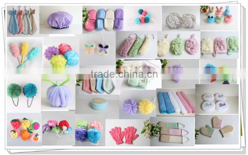 butterfly bath pouf bath lily shower pouf super soft rich bubble new design exfoliate puff lady puff