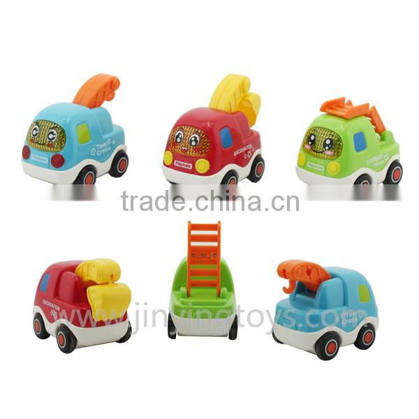 Kids plastic friction toy truck