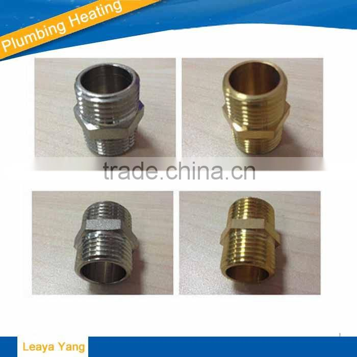 "Brass Red copper Pipe Fitting, Nipple 1/4"" Male X 4"" Length"