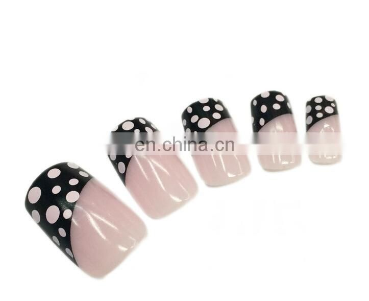 Custom new style box packing french Fake Nails artificial fingernails 12pcs