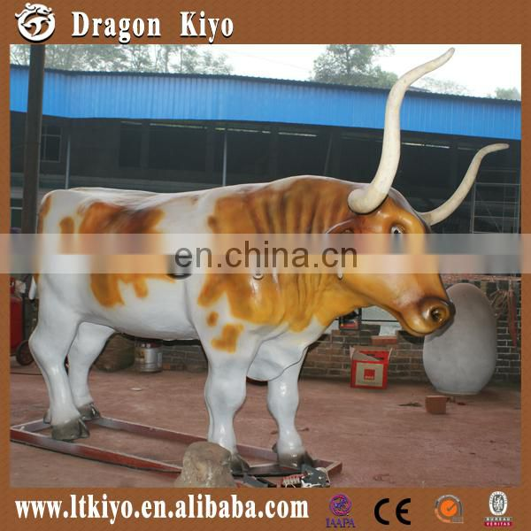 2016 theme park mechanical animals moving simulation cow