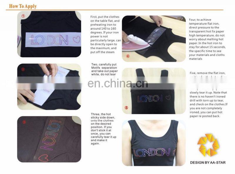 Retro car design hot fix rhinestone motif strass for T-shirt of Hot ... 7164459560af