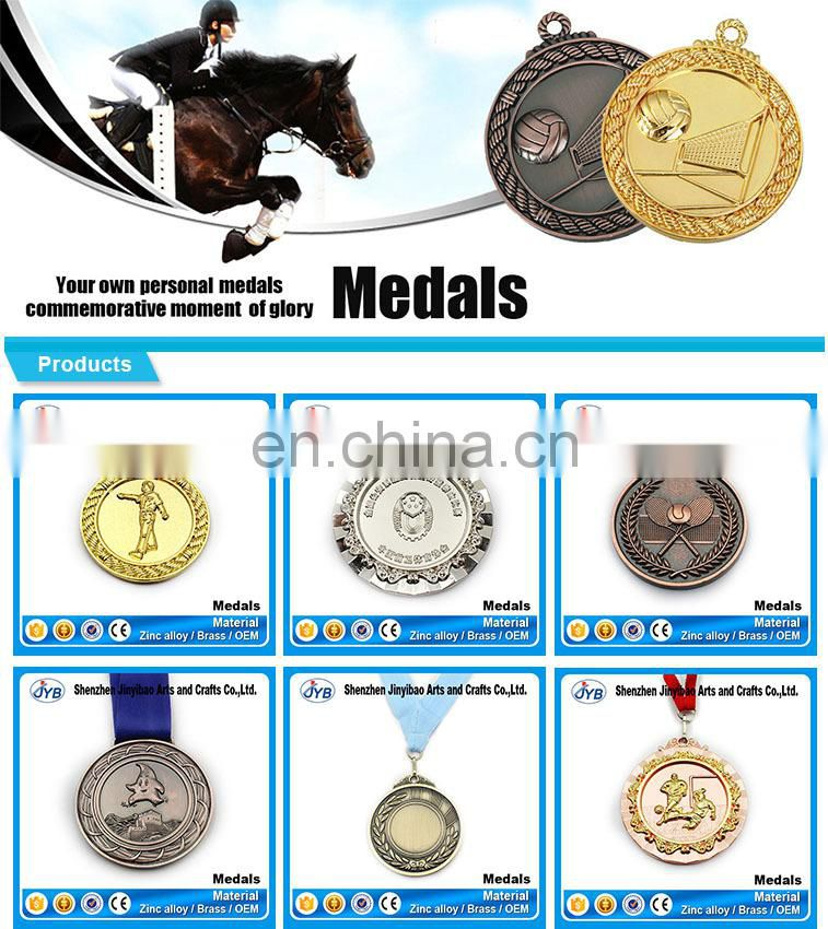 zinc alloy antique plated bronze karate medallion for champions