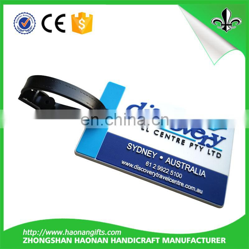 Customized Custom logo promotional plastic luggage tag / pvc luggage tag