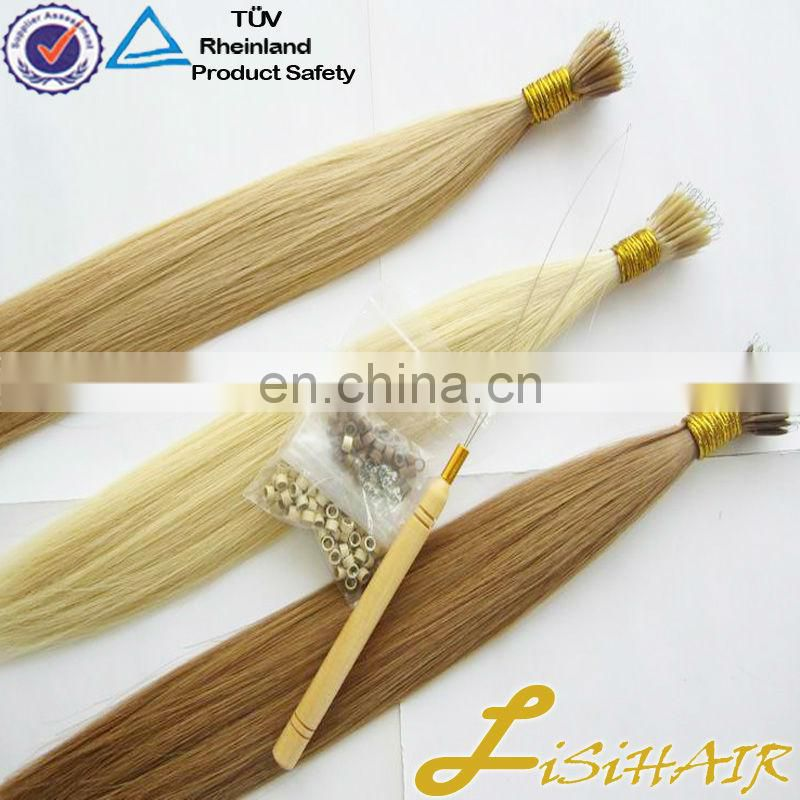 Factory 1.0g 0.8g 0.5g double drawn Hair Weaving Ombre I tip hair extensions