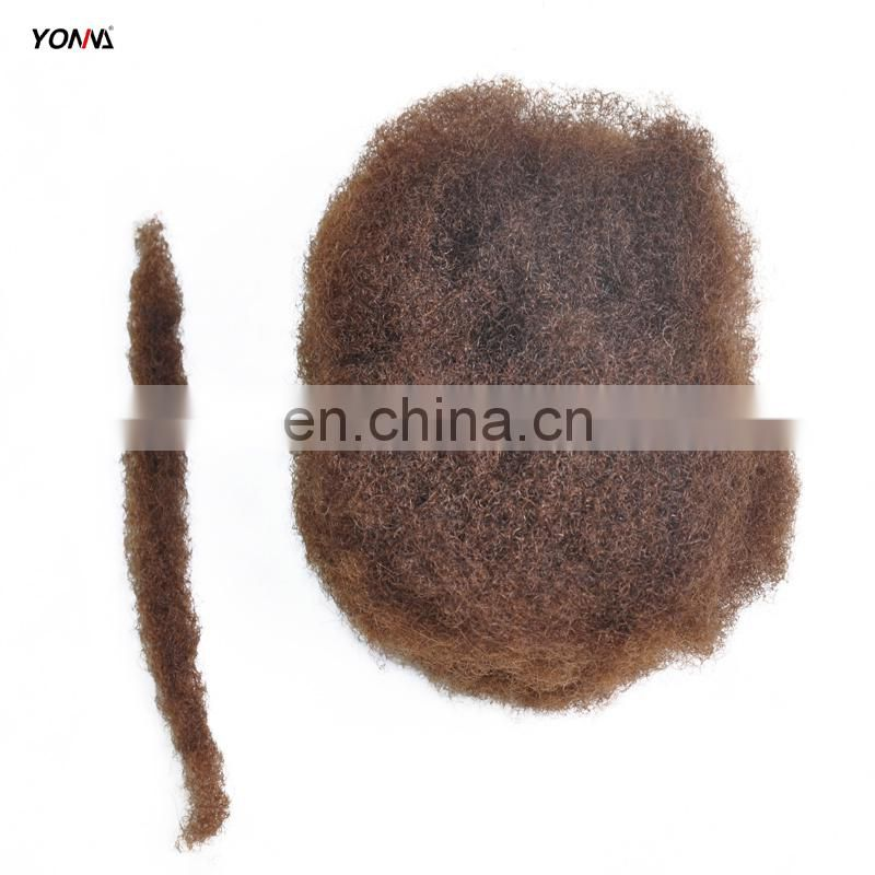 4pcs/lot tight Afro Kinky Bulk Hair 100% Human Hair For DreadLocks,Twist Braids 2# Hair