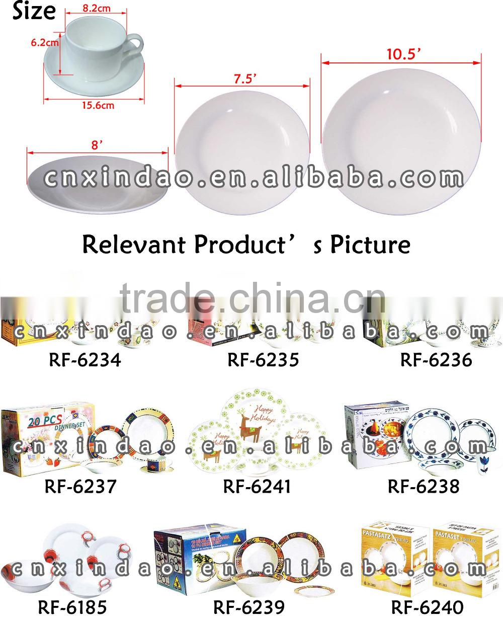 Zibo Manufactured Good Quality Hot Sale Wholesale Porcelain Dinner Set for Tableware