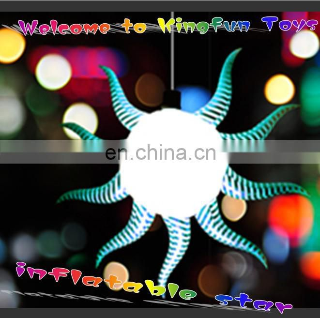 Customized inflatable LED star for club/pub/stage/festival/show