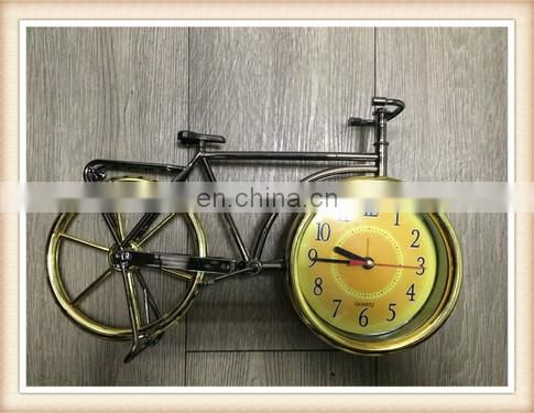 classical bike plastic antique table clock