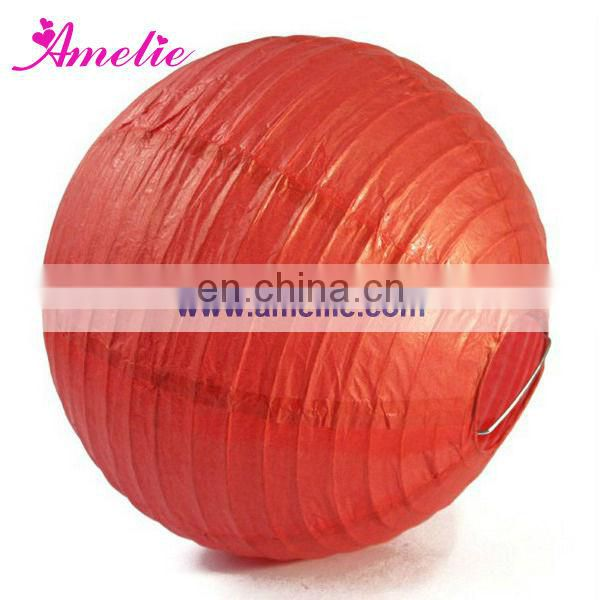 A34PL Paper lantern wedding decoration red