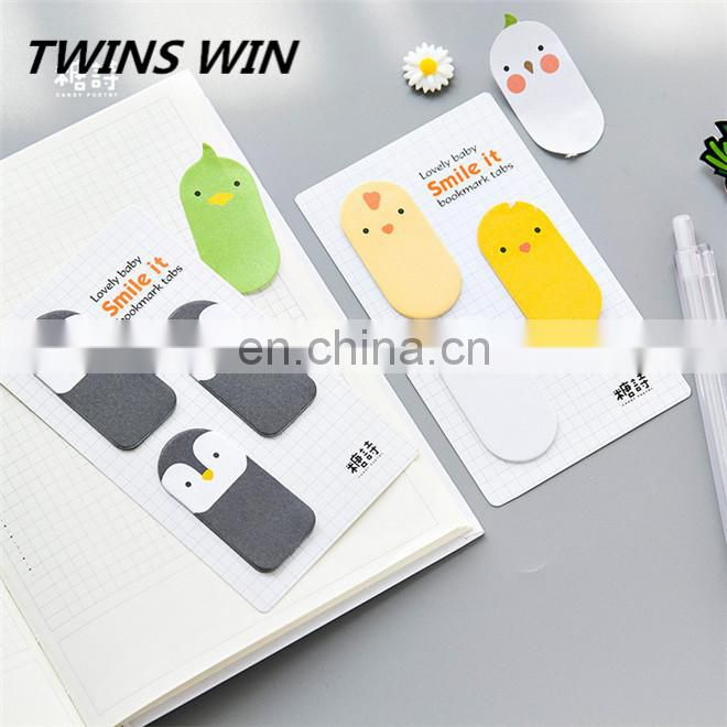 Logo printed custom different size and animal shape colorful sticky note pad Eco friendly Writing paper book
