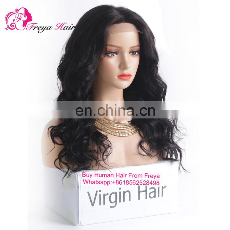 Qindao Factory direct price lace front human hair wig