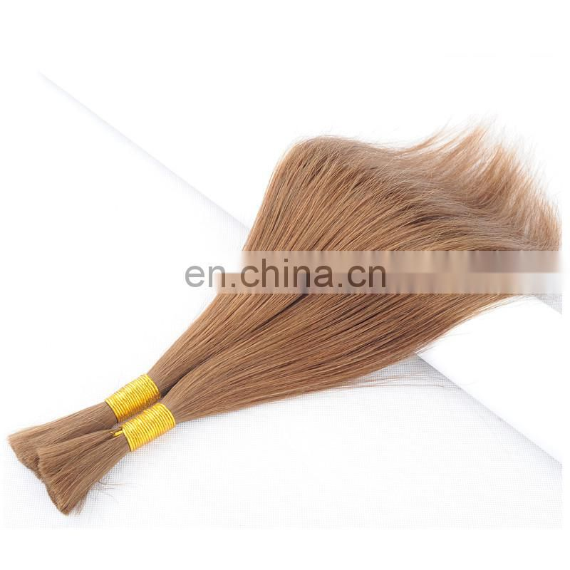 factory wholesale high quality 100% human hair bulk