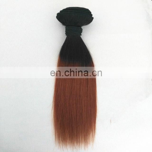 Top seller new arrival high quality virgin peruvian two tone #1b/99j ombre hair wefts