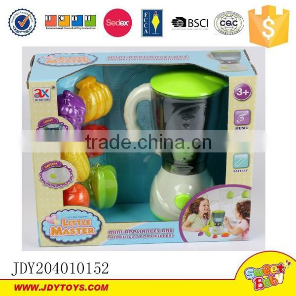 Kitchen appliance mini juicer toy for kids with music and light simulation blender