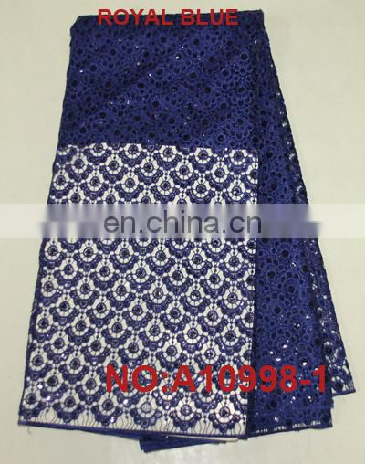 high quality sequins guipure lace swiss dresses