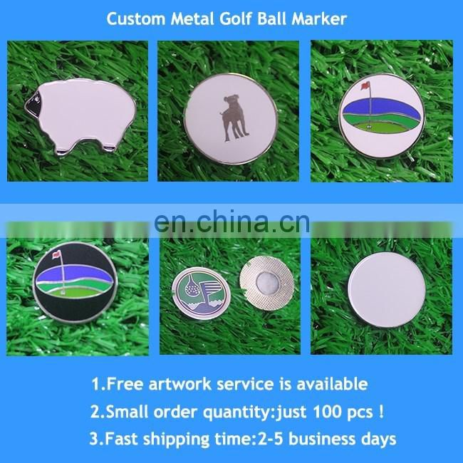 New fashion printing custom 24mm resin ball marker with doming