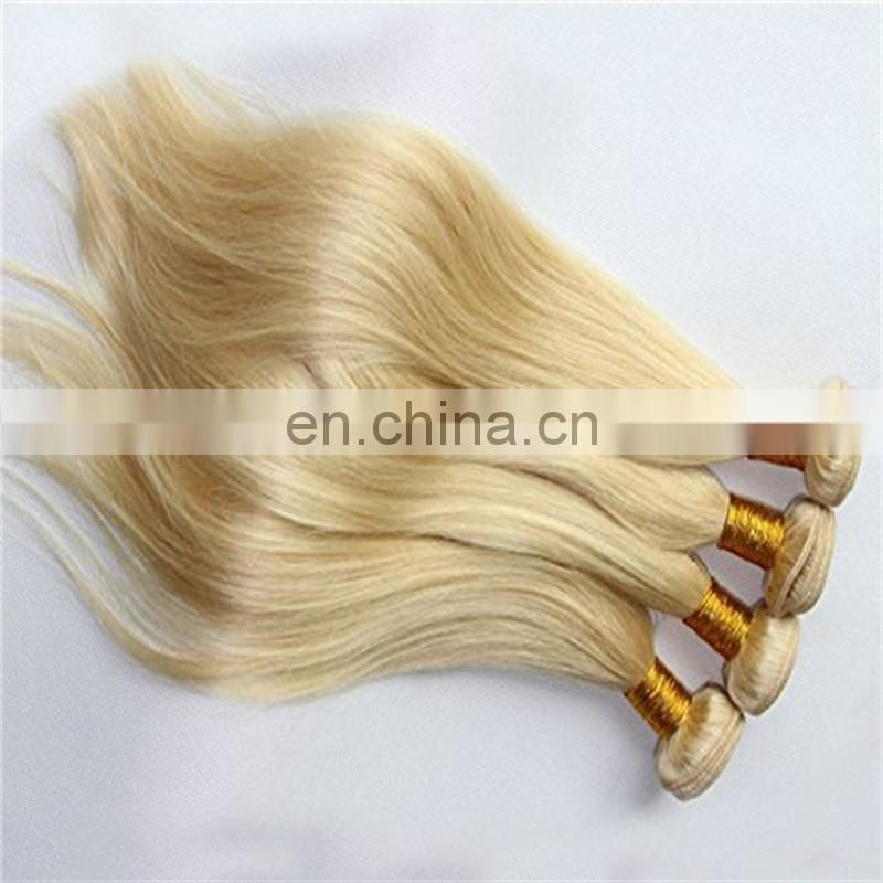 Blonde color brazilian hair bundle