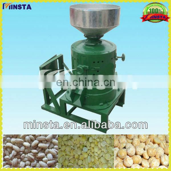 Home use 100kg/h-500kg/h grinding wheel crop peeling machine of mini rice mill