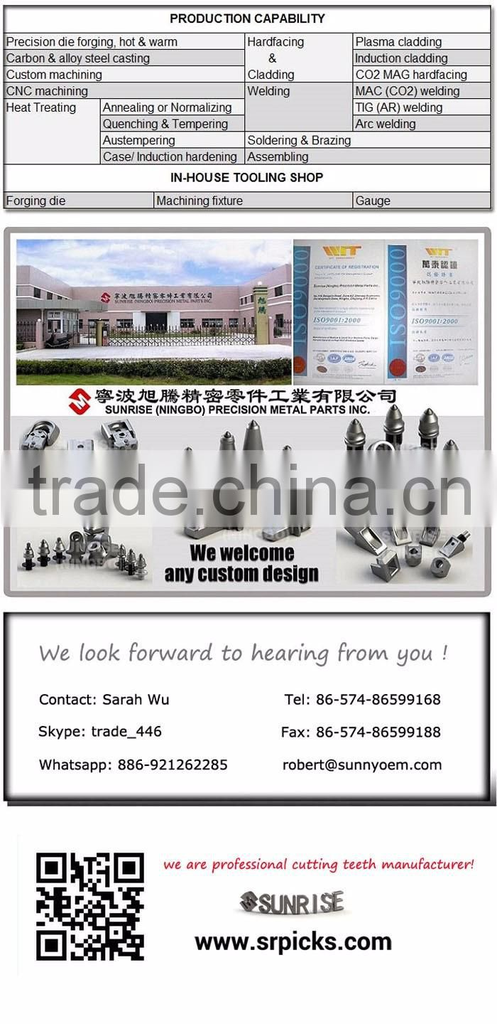 R60T High toughness roadheader tunneling tbm cutter tunnel boring machine teeth