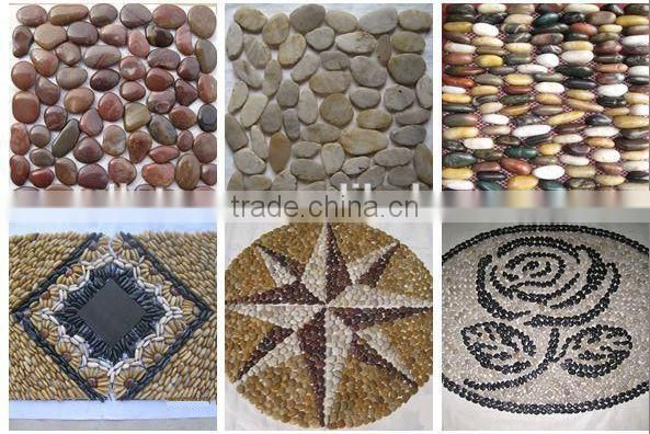 Pebble Stone Mosaic Stripe Pebble Mesh Tiles Prices