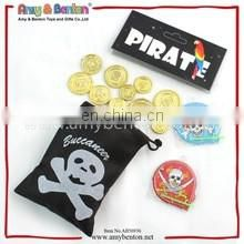 Hot sale promotional gift funny plastic 6 pcs pirates play toy set