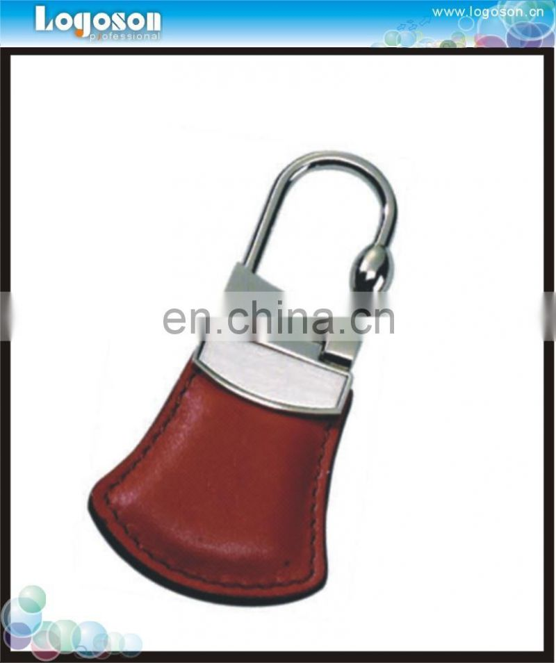 2014 hot sell initial leather keychain
