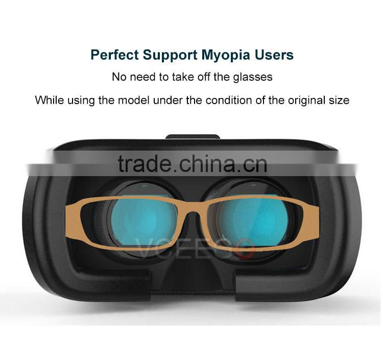 High quality 3d glasses vr box supports 500 degrees of myopia
