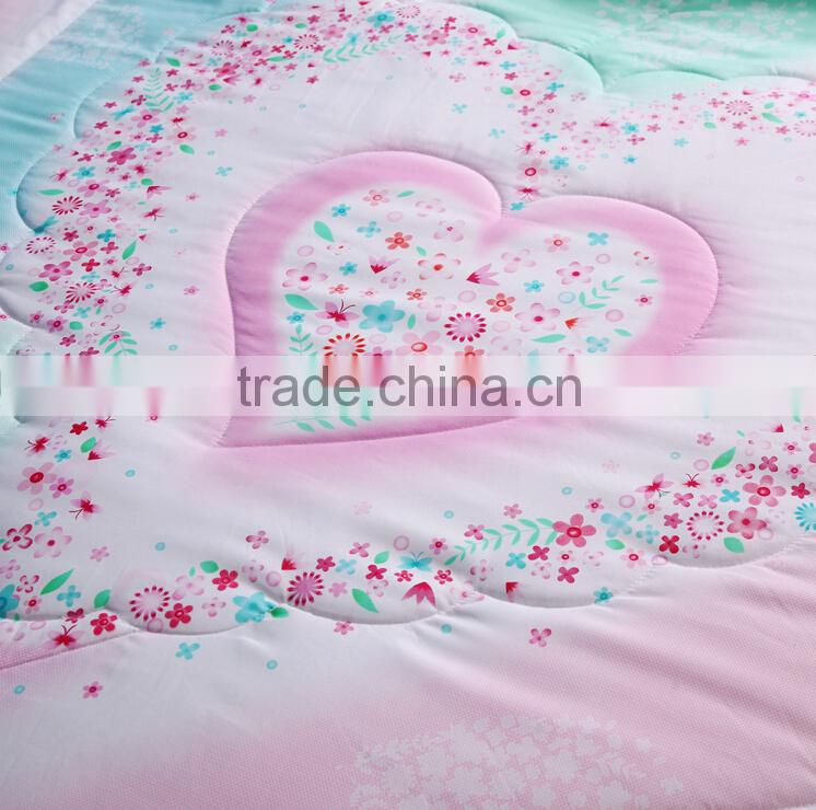 Luxury 3d floral printed quilting comforter set , cotton/poly filling quilt