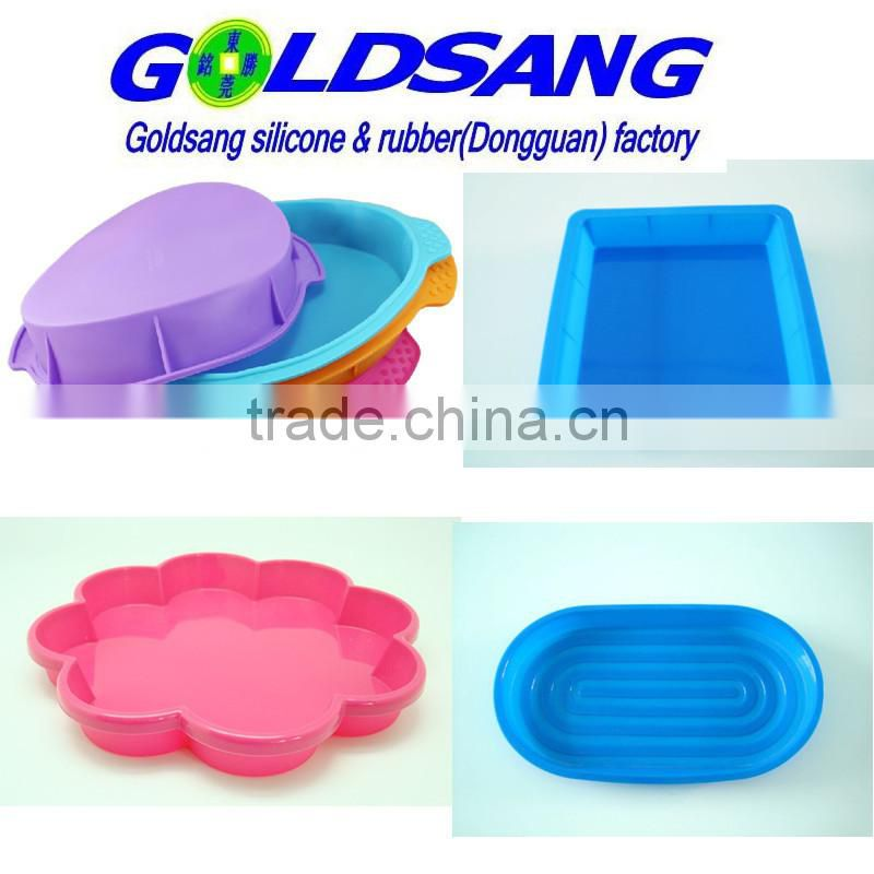 simple design round or square big silicone cake mold pan