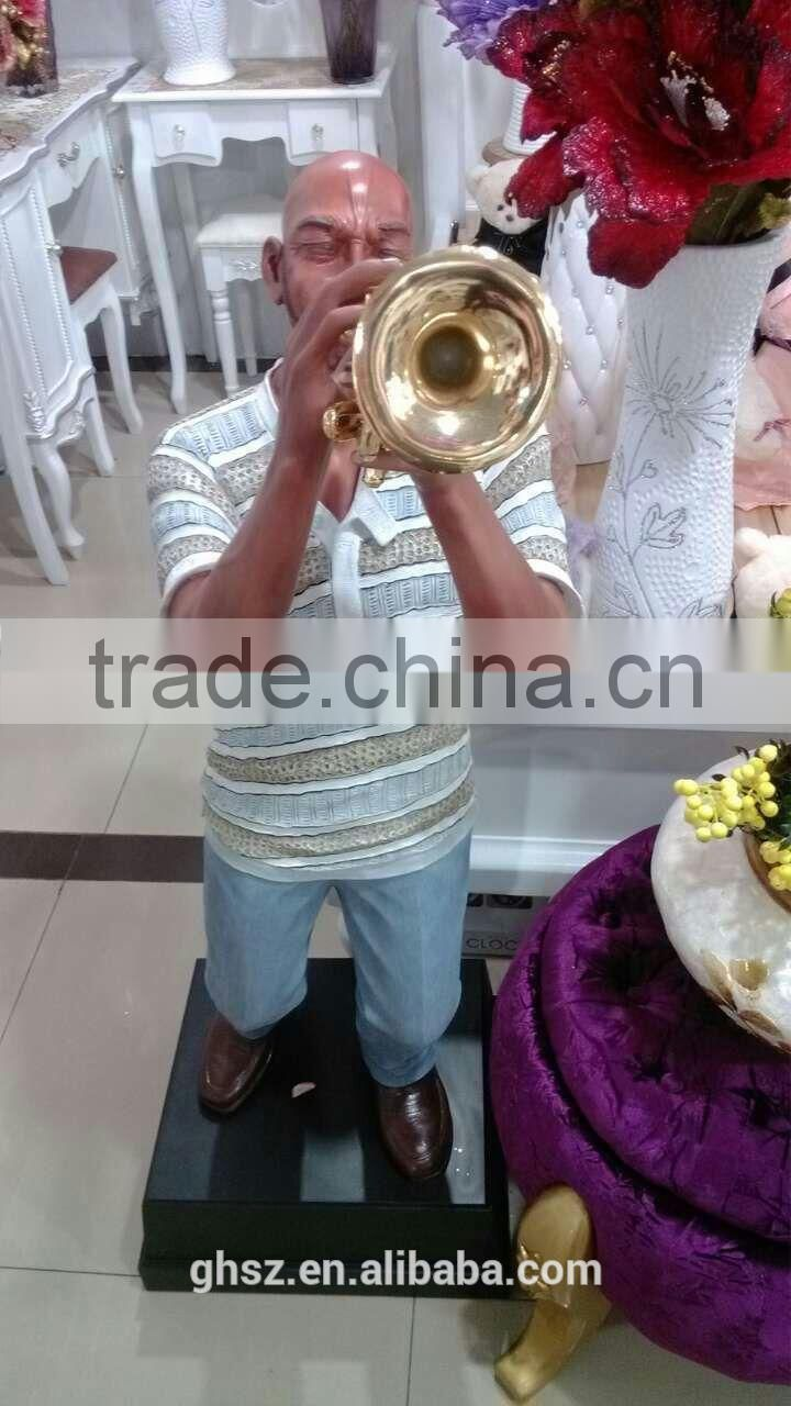 Guo hao hot sale custom jazz bank concrete statue molds for sale