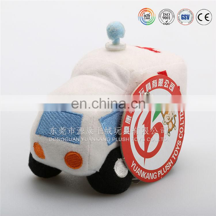 Soft ambulance car with soft book plush toys for kids