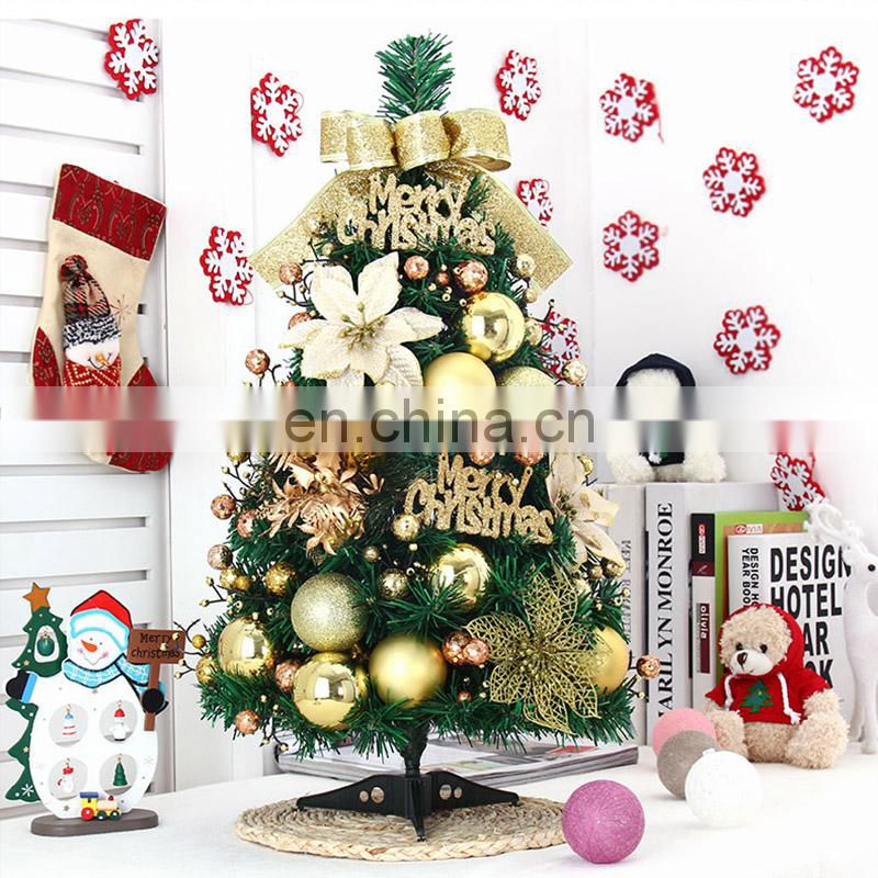 60cm Realistic Tabletop Christmas Trees Stand Small Size Gold
