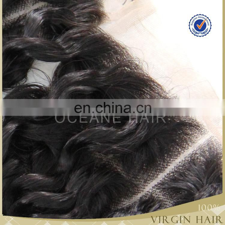 HOT top grade brazilian hair closure lace closure 40-50g 3 way part closure curly in closure