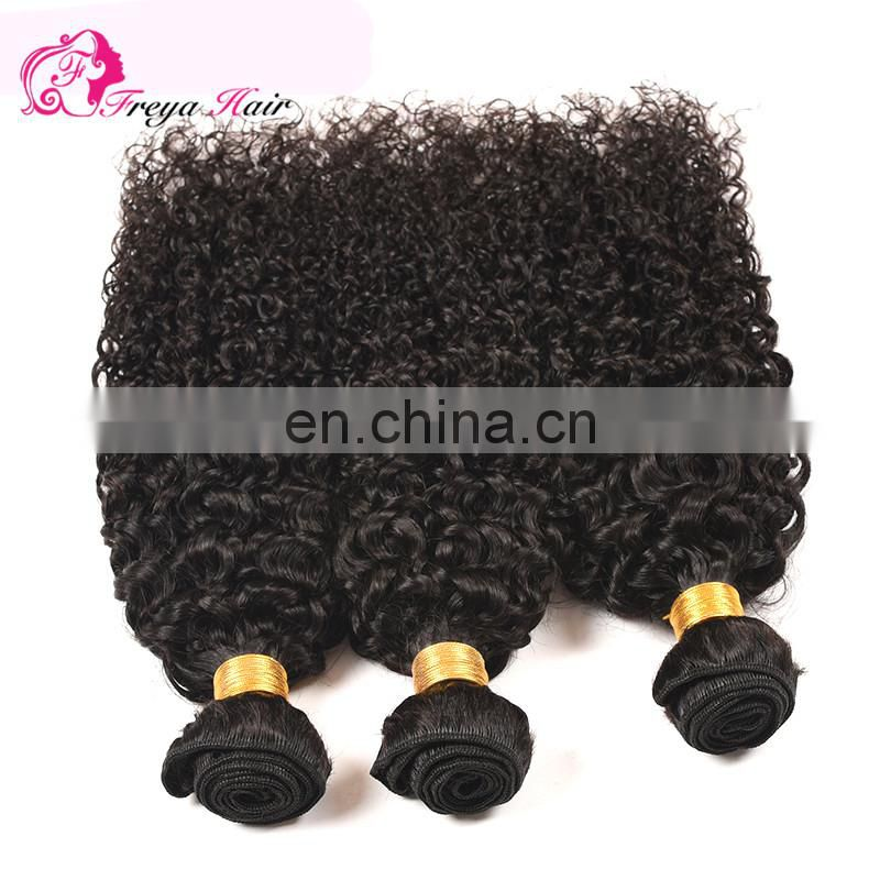 Qingdao Freya hair cheap factory price indian remy hair extensions kinky hair extensions