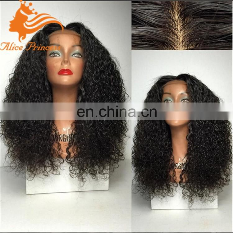 200%density human hair sew in wig midlle part full lace wig for woman human hair wig