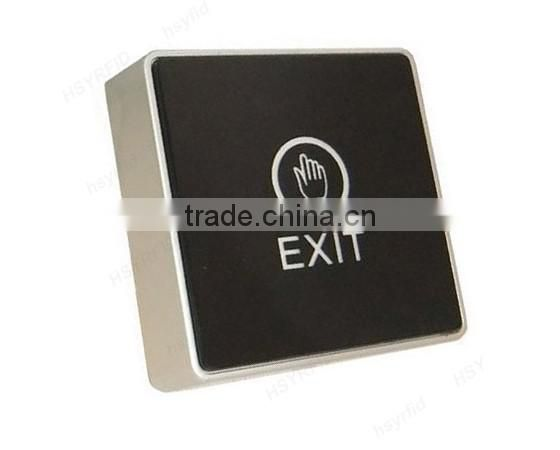 Access controller touch button door exit release