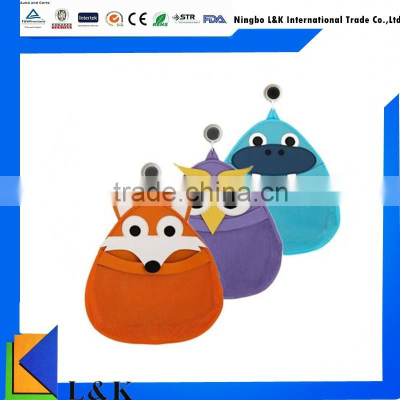 cute animal baby bath toys organizer/kids toy organizer bag