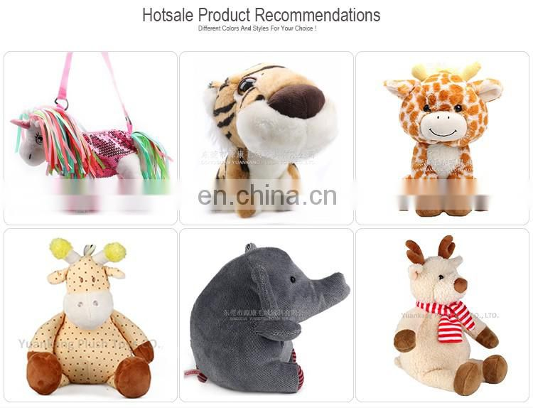 Plush colorful unicorn animal shape bag for kid