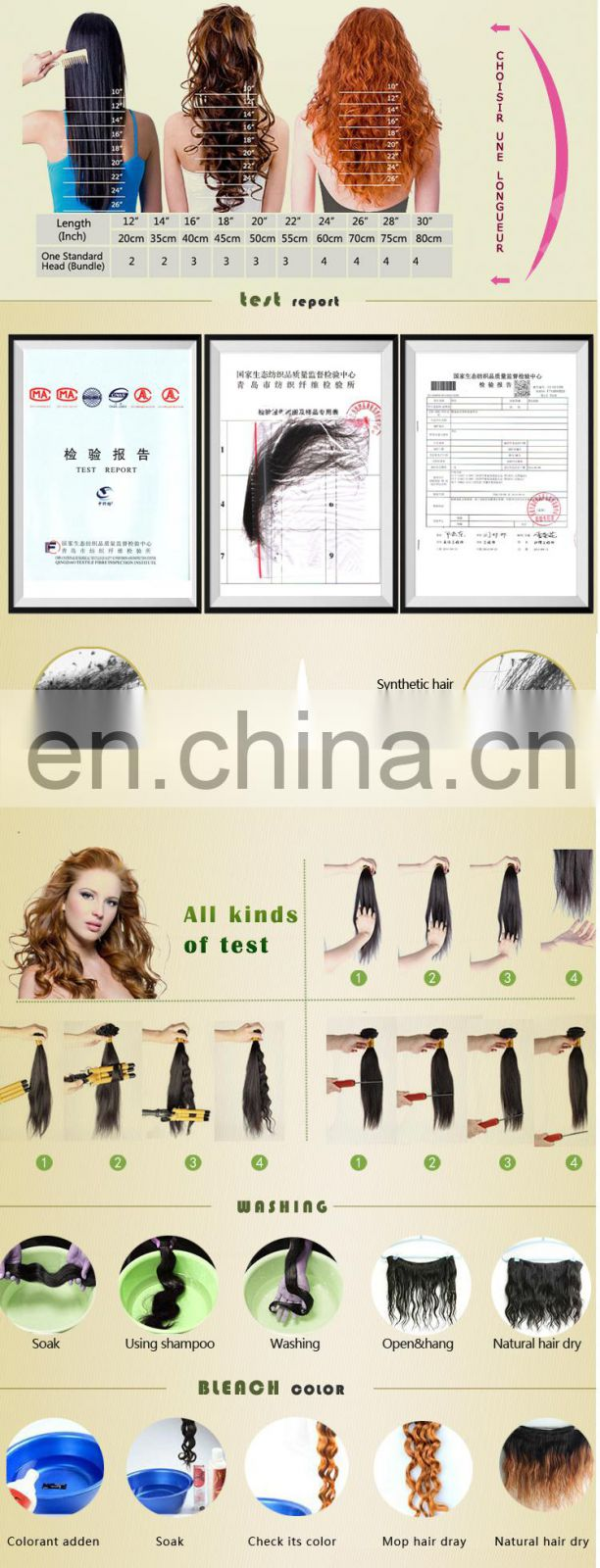 2015 Hot sale!!!new coming factory wholesale unprocessed virgin soprano remy hair extensions