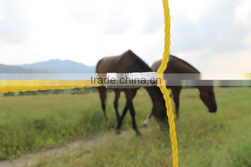 electric fence wire rope tape , polywire polyrope polytape 200-500 Meter per roll,3-6 conductive strainless steel