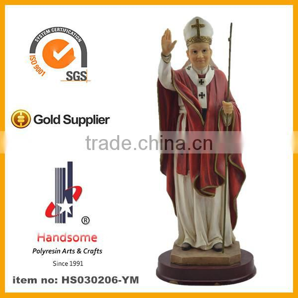 2014 resin christian pope statue , the pontiff figurine