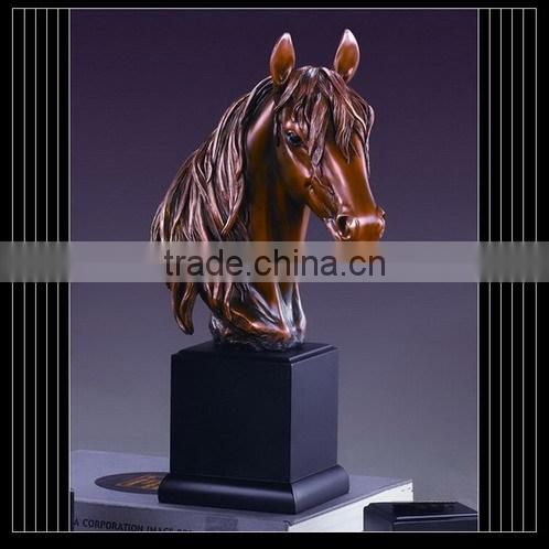 New design of qualified resin big outdoor horse shape ashes urn
