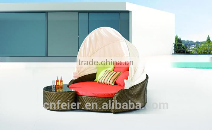 popular wicker sun lounge for europe