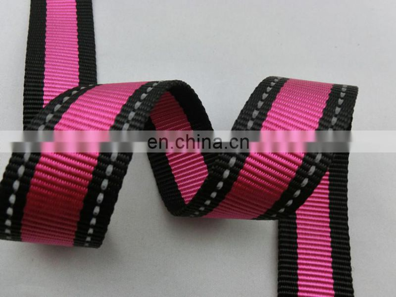 Custom 3.3 cm double side whipstitch nylon ribbon seat belts