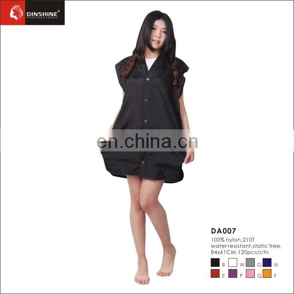 Nylon Salon Smock Barber Lady's Coat Hairdressing Smock- Black