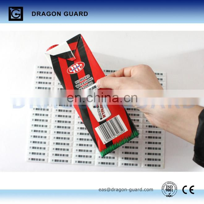 AM 58 khz security soft label, Clothing security EAS Soft Label, retail store 58khz soft label